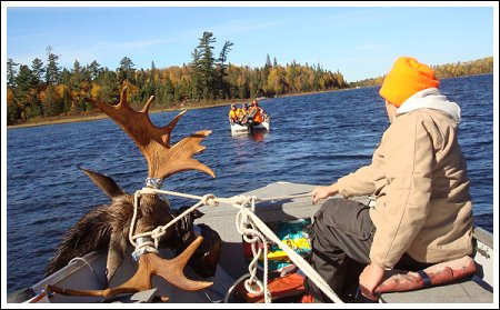Moose Hunting - Lake Ogascanan Lodge